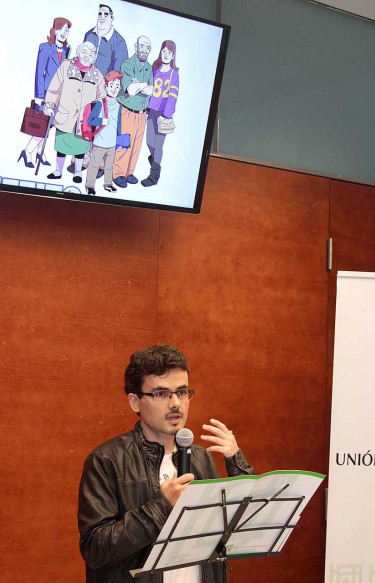 Marcos García Rodríguez foi o ilustrador que levou ás viñetas á familia Os Benfeito