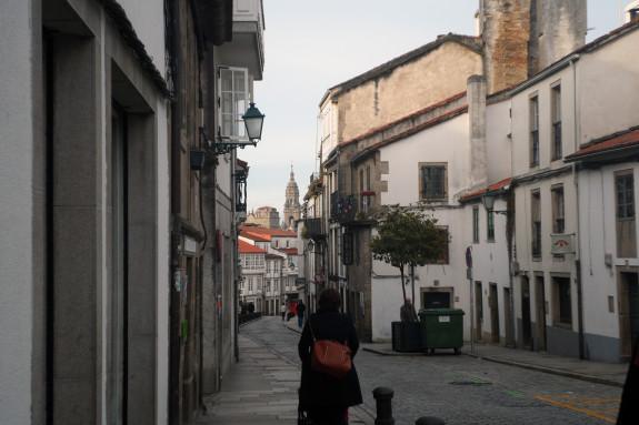 A rúa de San Pedro é semipeonil desde o pasado verán - FOTO: G.L.O.