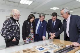 Suárez, esquerda, Vázquez, Bonet, o conselleiro Román Rodríguez e Sendón.  - FOTO: XdG