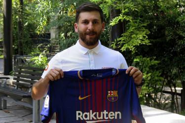 Reza Parastesh es el doble iraní de Messi - FOTO: Marina Villén/EFE