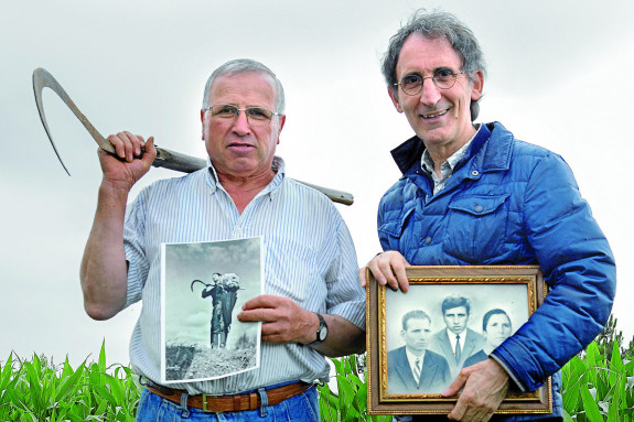 Andrés Ferreiro, izquierda, con Chema Ríos en el  reencuentro que protagonizaron semanas atrás