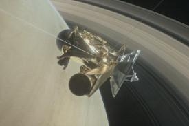Representación de un satélite sobre la órbita de Saturno - FOTO: Efe
