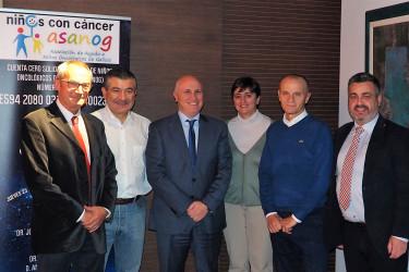 DE Izqda. Dr. Antonio Pose, Dr. Rafael López, D. Antonio Fernández - Campa, Dña. Gisela García Álvarez, Dr. José R. G. Juanatey y D. Enrique Suárez. - FOTO: ECG