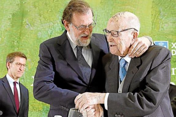 Tres presidentes: Alberto Núñez Feijóo, Mariano Rajoy Brey y Gerardo Fernández Albor - FOTO: ECG
