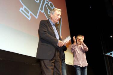 Entrega del premio Cineuropa a Costa-Gavra  - FOTO: Antonio Hernández
