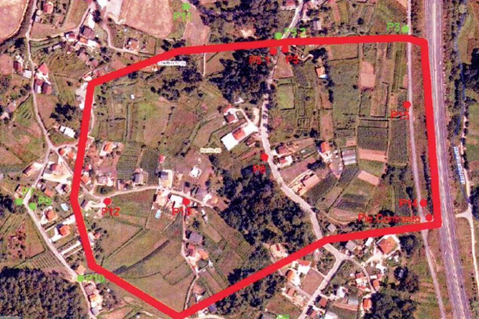 Zona del barrio de Contrasto, de O Porriño, donde se ha detectado la contaminación del agua por lindano