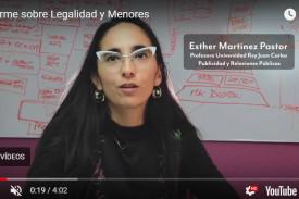 Captura de imagen de un vídeo de TMKF sobre legalidad y menores