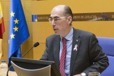 El conselleiro de Sanidade, Jesús Almuiña, este viernes - FOTO: Xunta