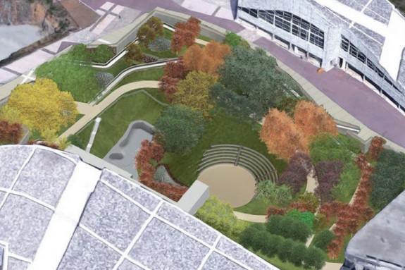 Imagen virtual del nuevo jardín botánico que ocupará el espacio donde estaba previsto el Teatro de la Música  - FOTO: CdC