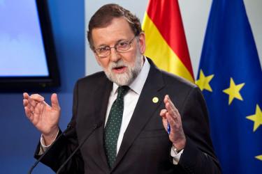 El presidente del Gobierno, Mariano Rajoy, en la conferencia de prensa que ha ofrecido al término del Consejo Europeo de Bruselas, en la que fue preguntado por el
