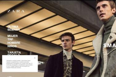 Captura de imagen de la web de Zara
