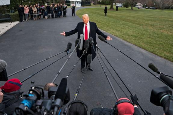 TECNOLOGÍA El presidente de EEUU, Donald J. Trump, ante a la prensa - FOTO: EFE