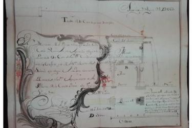 El plano, que se conserva plegado y en buen estado, es un manuscrito original a pluma y escrito con tinta negra - FOTO: Catedral
