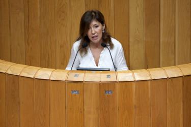 Beatriz Mato durante su intervención en el pleno del Parlamento - FOTO: X.de G.