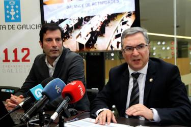 Marcos Araújo y Luis Menor durante la presentación de los resultados del 112 Galicia - FOTO: Xunta