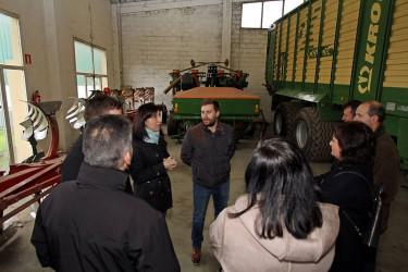 La conselleira de Medio Rural, Ángeles Vázquez, ha visitado este martes una cooperativa en Arzúa - FOTO: Xunta