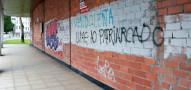 Más pintadas en las calles de la capital gallega
