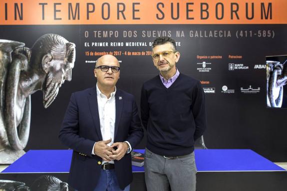 Manuel Baltar e Jorge López Quiroga, onte na presentación do balance dos dous primeiros meses da mostra