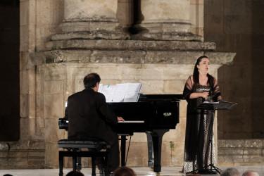Reciente concierto ofrecido por Laura Alonso en San Martiño Pinario - FOTO: Arxina