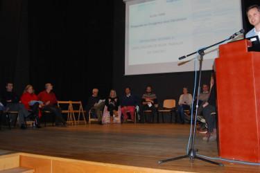 Reunión en la que se anunció la puesta en marcha de la Plataforma N-550 - FOTO: CDA