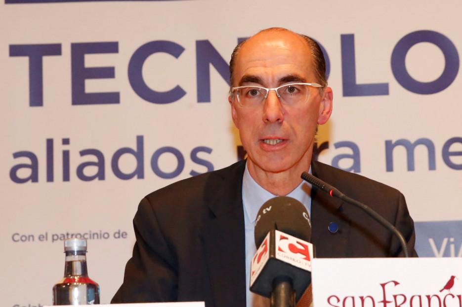 El conselleiro Vázquez Almuíña en el Foro de EL CORREO - FOTO: ECG