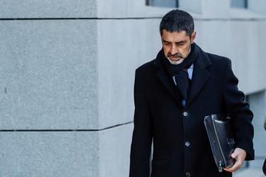 El exjefe de los Mossos d'Esquadra Josep Lluis Trapero a su llegada a la Audiencia Nacional  - FOTO: EFE