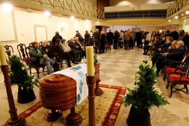 La capilla ardiente situada en el Museo do Pobo Galego - FOTO: Fernando Blanco
