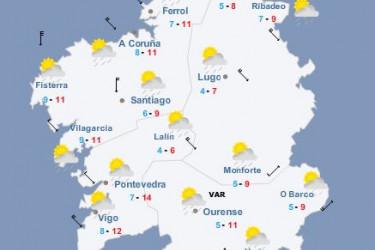 Intervalos de nubes y claros y temperaturas mínimas en descenso - FOTO: ecg