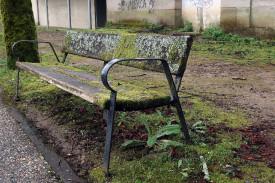 Mobiliario urbano en mal estado en el Campus