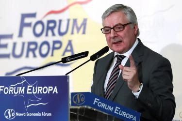 15/02/2018.- El eurodiputado socialista José Blanco, durante su intervención en el desayuno informativo del Fórum Europa - FOTO: EFE