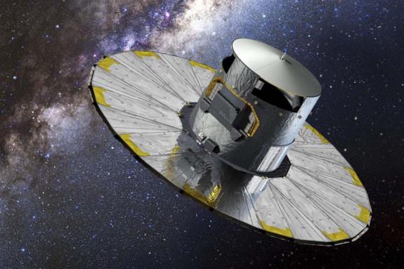 Recreación del satélite Gaia en órbita