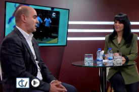 Antonio Quinteiro coa autora da entrevista, Silvia Castiñeiras