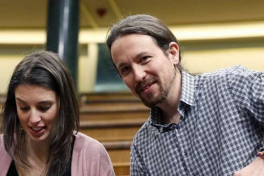 Irene Montero y Pablo Iglesias  - FOTO: Efe