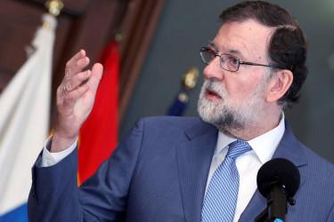 Mariano Rajoy, ayer en Canarias - FOTO: EFE