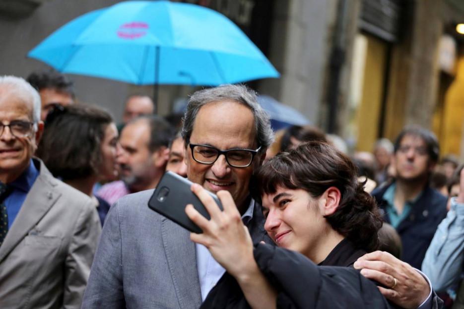 GIRONA, 19/05/2018.- El presidente de la Generalitat, Quim Torra, en su visita a Girona.  - FOTO: EFE/Ruben Moreno Garcia