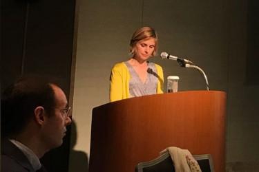 Nava Castro, ayer durante su intervención en Osaka - FOTO: G.