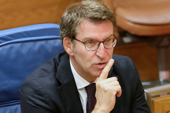 El presidente de la Xunta de Galicia, Alberto Núñez Feijóo, el pasado martes en el Parlamento de Galicia - FOTO: EFE/ Xoán Rey