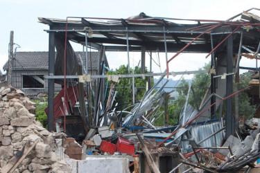 Zona cero de la explosión de la pirotecnia  - FOTO: S. Sas