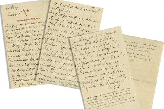 LOS ÁNGELES (EE.UU.), 25/06/2018.- Fotografía cedida de las cuatro páginas de una carta escrita por Albert Einstein el mismo día en que el físico de origen judío renunció a su ciudadanía alemana, que fueron subastadas en Los Ángeles (California) esta semana. - FOTO: EFE/Nate D. Sanders Auctions