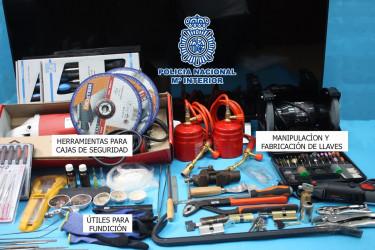 Imagen de algunos de los efectos intervenidos en el marco de la Operación Cáucaso - FOTO: Policía Nacional