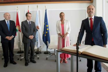 Acto de toma de posesión de David Regades como nuevo delegado del Estado en la Zona Franca de Vigo - FOTO: ECG