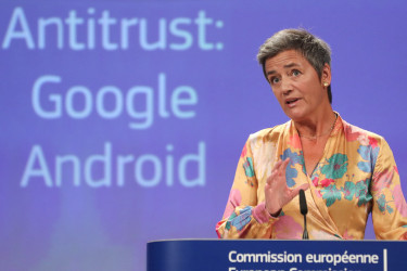 La comisaria europea de Competencia, Margrethe Vestager - FOTO: ECG