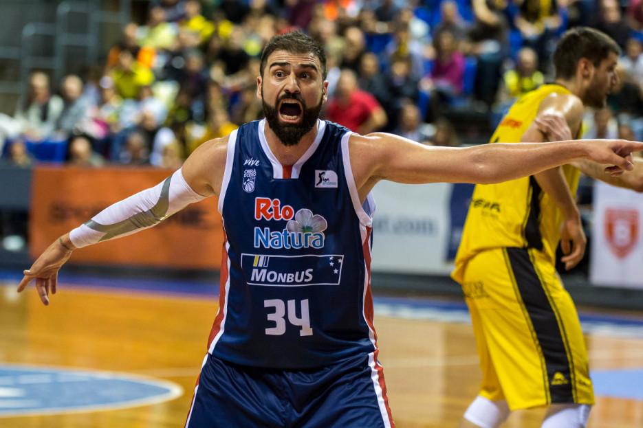 El alero griego Kostas Vasileiadis en uno de sus últimos encuentros con el Obradoiro - FOTO: ECG