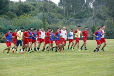 Entrenamiento del S.D. Compostela en el campo de Conxo