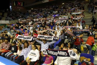 Búsquese en la grada en el partido del partido Monbús Obradoiro, 80 - Tecnyconta Zaragoza, 74