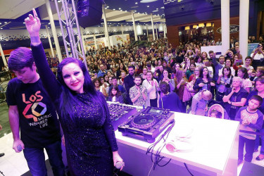 Alaska en la Fashion Night del centro comercial As Cancelas