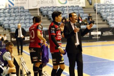 Partido entre Santiago Futsal y Zaragoza