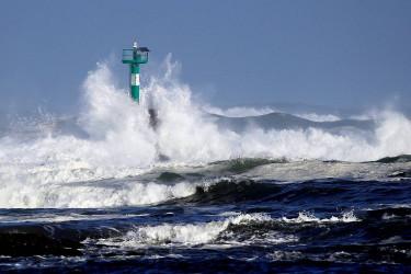 Temporal en la costa gallega