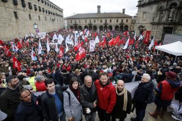 Manifestación en Santiago en defensa de la Sanidad pública