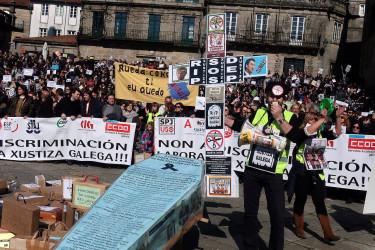 Manifestación de Funcionarios de Justicia en Santiago
